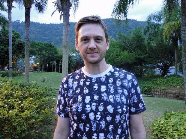 André Frateschi em seu primeiro dia de gravação (Foto: A Vida da Gente/TV Globo)