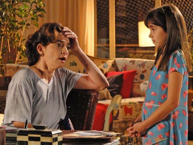 Vitória, furiosa ao saber que Marcos está namorando (Foto: A Vida da Gente / TV Globo)