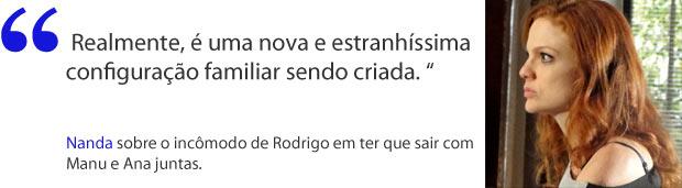 Nanda reconhece que a situação de Rodrigo é difícil (Foto: A Vida da Gente / TV Globo)