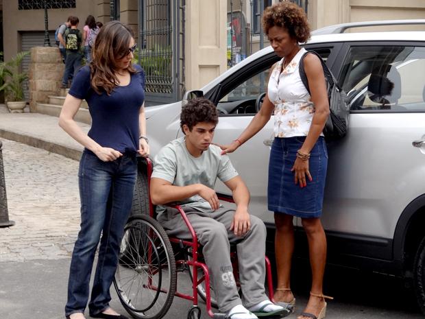 Jefferson cadeira de rodas Malhação (Foto: Malhação / TV Globo)