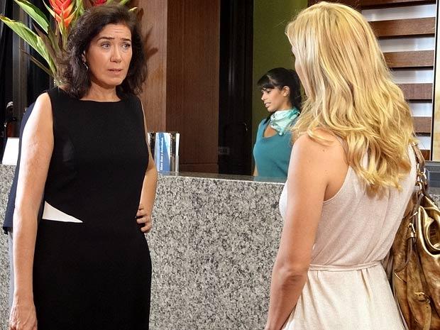 Griselda diz que ela não vai conseguir a guarda de Quinzinho (Foto: Fina Estampa / TV Globo)