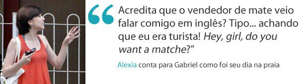 Frase da semana Alexia Malhação (Foto: Malhação / TV Globo )