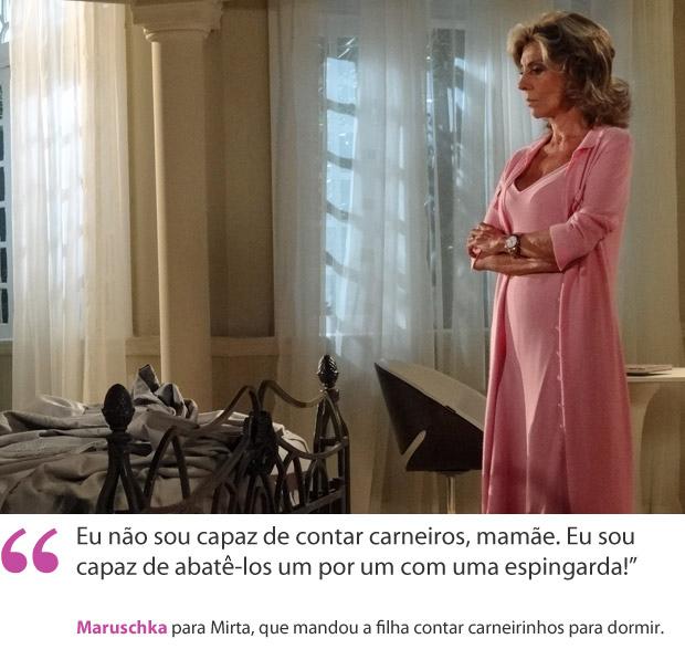 Maruschka carneiros frases da semana (Foto: Aquele Beijo / TV Globo)