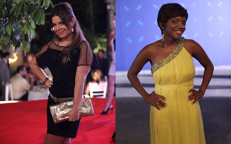 Opostos: Camila aposta no pretinho básico e Marisol ousa com amarelo de um ombro só