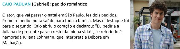 pedido papai noel caio paduan (Foto: Malhação / TV Globo)
