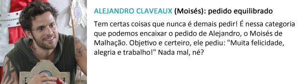pedido papai noel alejandro claveaux (Foto: Malhação / TV Globo)
