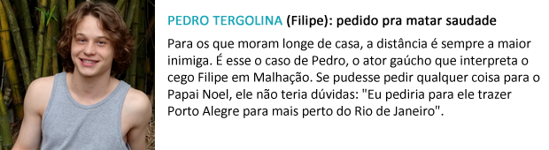 pedido papai noel pedro tergolina (Foto: Malhação / TV Globo)