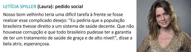 pedido papai noel letícia spiller (Foto: Malhação / TV Globo)