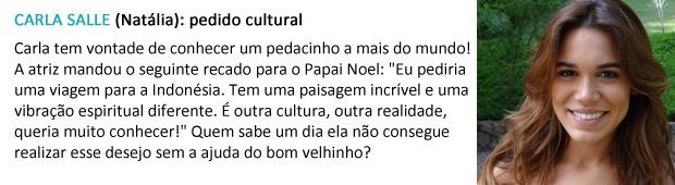 pedido papai noel carla salle (Foto: Malhação / TV Globo)