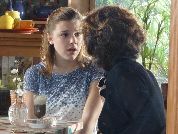 Vitória diz que Sofia não irá mais contar com ela para nada (Foto: A Vida da Gente/TV Globo)