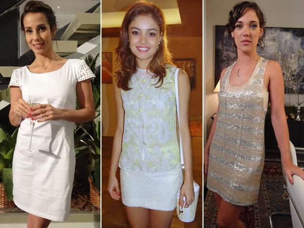 Letícia, Amália e Patrícia pode servir de inspiração para o look de ano novo (Foto: Fina Estampa/ TV Globo)