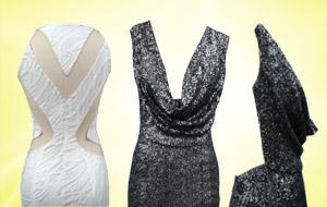 Detalhe do decote e costas dos vestidos (Foto: Fina Estampa/TV Globo)