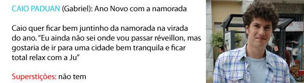 Ano novo do Caio Paduan (Foto: Malhação/TV Globo)