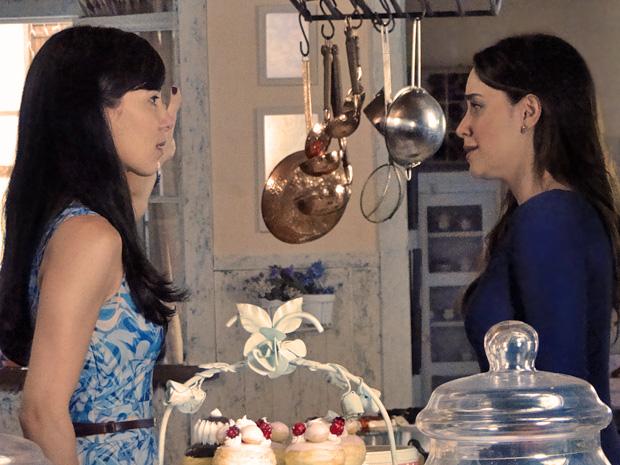 Manu não perdoa Ana e pede que a irmã vá embora (Foto: A Vida da Gente/TV Globo)