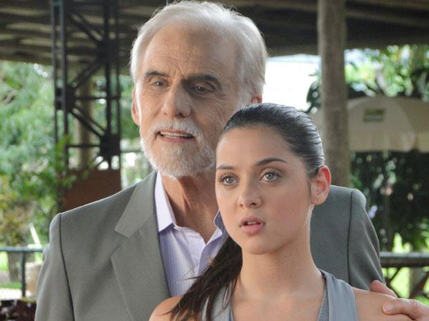 Cecília garante que aguenta um ritmo puxado de treino (Foto: A Vida da Gente - Tv Globo)