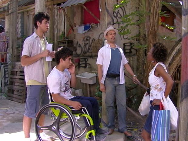 Valdir, dieguinho, jefferson e aparecida malhação (Foto: Malhação / TV Globo)