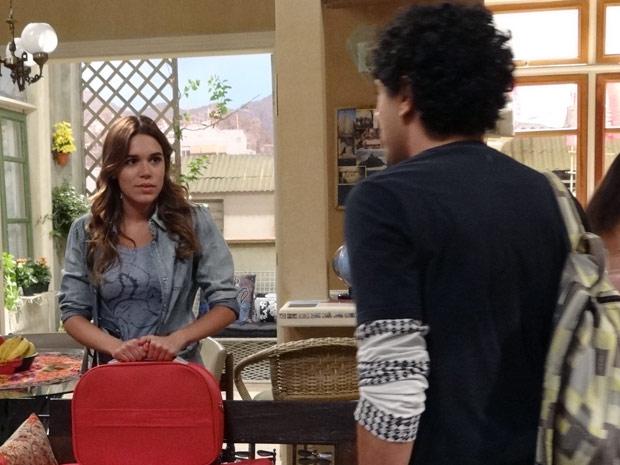 Ziggy e Natália ficam mexidos ao se encontrarem (Foto: Malhação / TV Globo)
