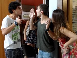 Ziggy, tomás e cristal 300x225 malhação (Foto: Malhação / TV Globo)