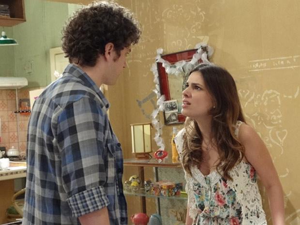 Gabriel revela que ama Alexia, e Cristal fica em choque (Foto: Malhação / TV Globo)