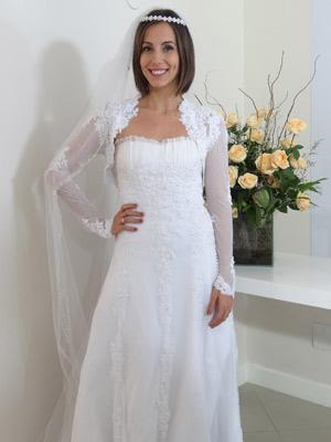 Vestido é feito de tule francês de algodão (Foto: Fina Estampa/TV Globo)
