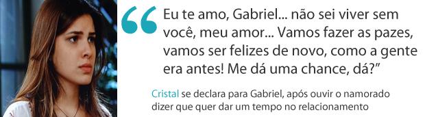 Frases da semana cristal (Foto: Malhação / TV Globo)
