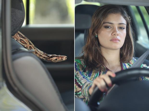 Amália é surpreendida pela cobra: plano de Tereza Cristina dá certo (Foto: Fina Estampa/TV Globo)
