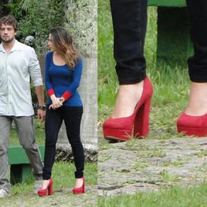Inspire-se nos sapatos de salto alto de Ana (A Vida da Gente/TV Globo)