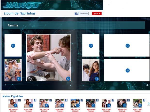 Álbum de figurinhas (Foto: Malhação / TV Globo)