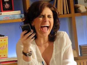 Claudia grita de felicidade (Foto: Aquele)