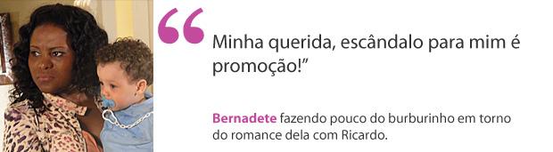 Bernadete (Foto: Aquele Beijo/TV Globo)