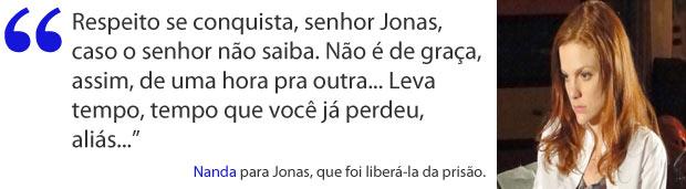 Nanda enfrenta Jonas (Foto: A Vida da Gente / TV Globo)