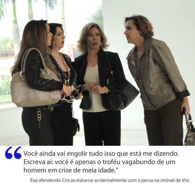 Eva ameaça Cris (Foto: A Vida da Gente / TV Globo)