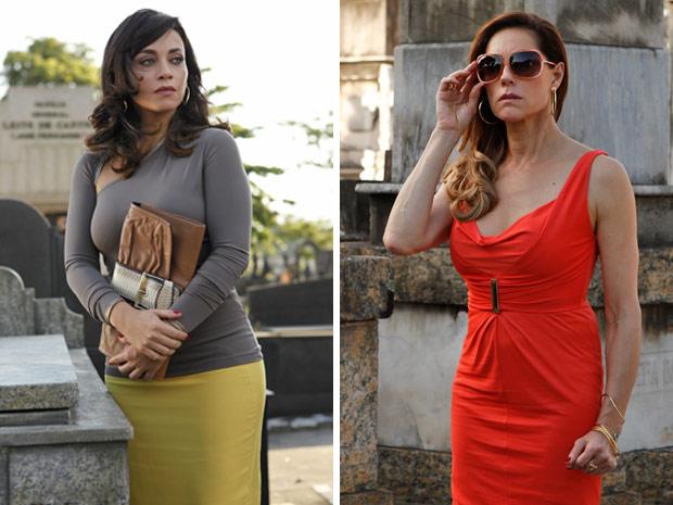 Tereza Cristina encontra Marcela no cemitério e quase não acredita no que vê (Foto: Fina Estampa/TV Globo)