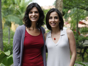 Helena Ranaldi e Tania Khallil comentam a repercussão de suas personagens (Foto: Fina Estampa / TV Globo)