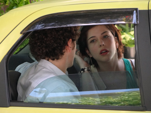 Alexia diz para Gabriel que a gravidez de Cristal é problema dela e do Tomás (Foto: Malhação / TV Globo)