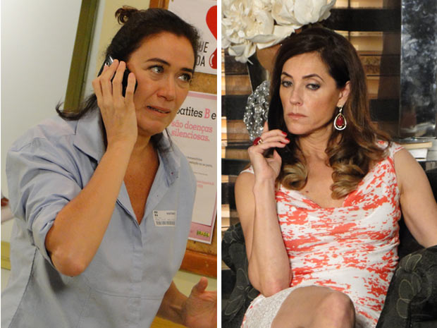 Griselda liga para Tereza Cristina e conta que Antenor está vivo (Foto: Fina Esrampa / TV Globo)