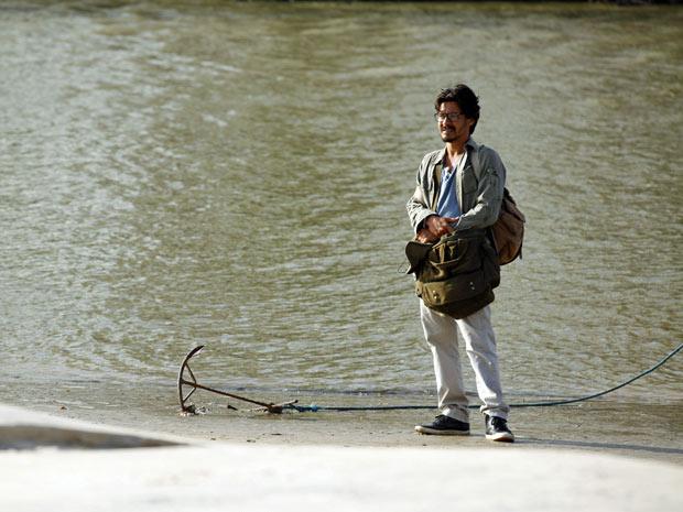 Ator gravou sequência de cenas no Pará (Foto: Amor Eterno Amor/TV Globo)