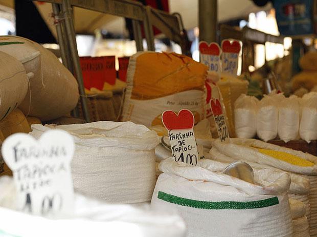 No Ver-o-Peso, é possível encontrar uma grande quantidade de produtos (Foto: Amor Eterno Amor/TV Globo)