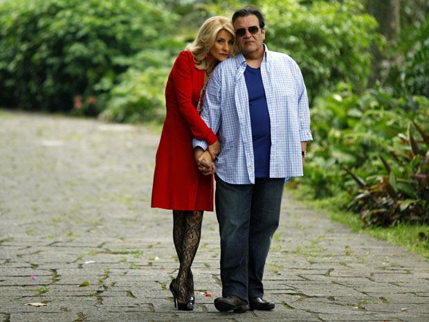 Cassia Kis Magro e Luis Mello: par de vilões na novela (Foto: Amor Eterno Amor/TV Globo)