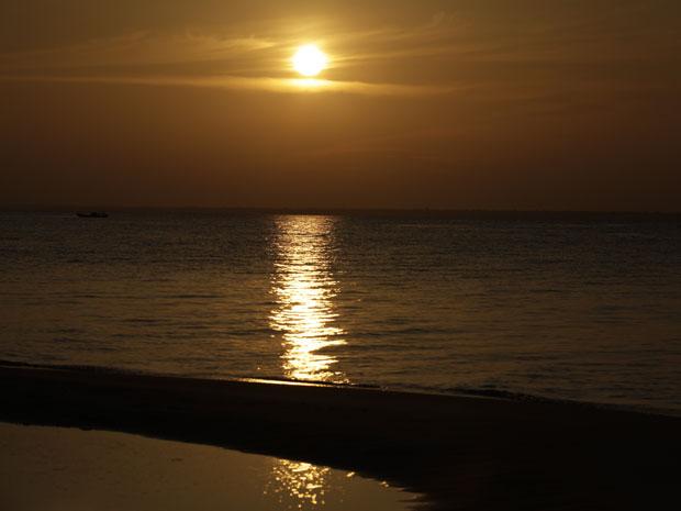 Ponta do Cururu, em Alter do Chão, é famosa pelo pôr do sol (Foto: Amor Eterno Amor/TV Globo)