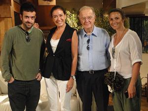 André Sampaio, Lilia Cabral, Jorge Sampaio e Sofia Cerveira (Foto: Fina Estampa/TV Globo)
