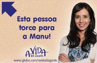 Manu no Facebook (Foto: A Vida da Gente/TV Globo)