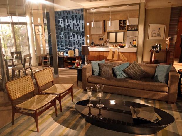 Apartamento de Vicente (Ricardo Pereira) (Foto: Aquele Beijo/TV Globo)