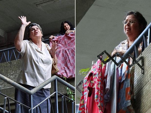 Deolinda promete melhorias a Olga, moradora do prédio (Foto: Amor Eterno Amor/TV Globo)