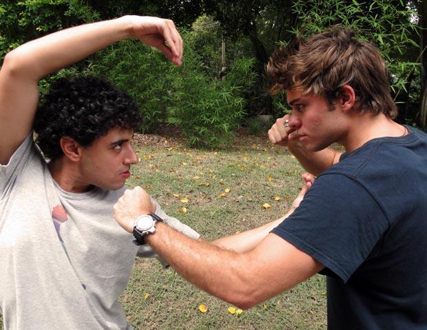 Lucas e Felipe fazem suas apostas para essa semana no BBB (Foto: Malhação / TV Globo)