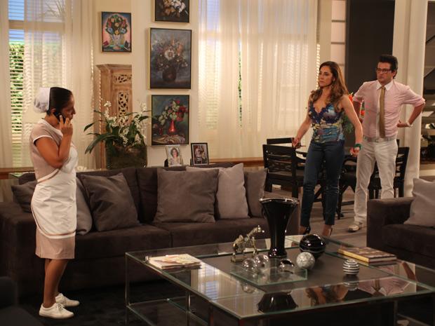 Cansada das maus tratos da patroa, Marilda resolve revidar  (Foto: Fina Estampa/ TV Globo)