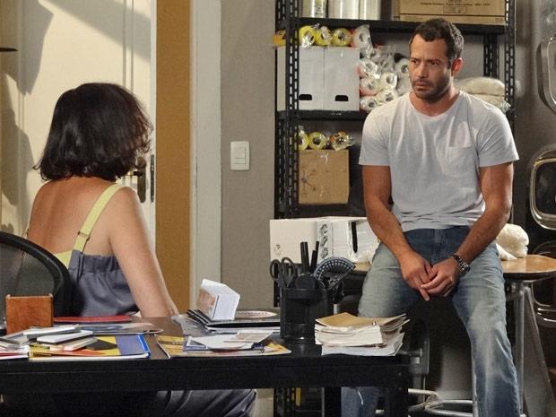 Griselda aconselha o filho a reconquistar seu grande amor (Foto: Fina Estampa/TV Globo)