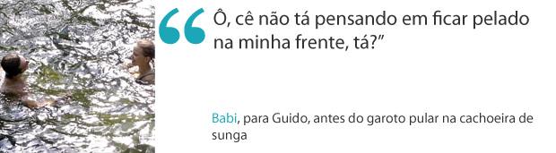 frases da seman babi e guido (Foto: Malhação / Tv Globo)