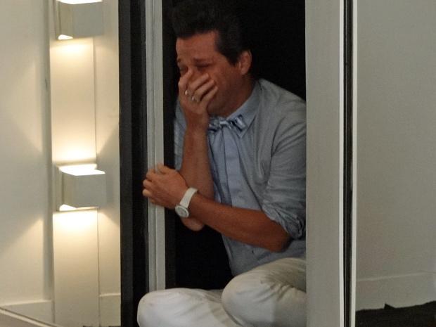 Crô trancado no armário (Foto: Fina Estampa / TV Globo)