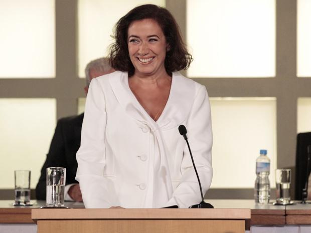 Griselda (Lilia Cabral) passará por fortes emoções no último capítulo de Fina Estampa. Uma ocasião especial deixará a portuguesa muito feliz. O que será que vai acontecer?  (Foto: Fina Estampa/TV Globo)